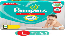 Pampers All round Protection Pants, Large size (L) 64 MRP:1149
