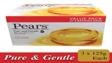 Pears Pure & Gentle Bathing Bar Soap - Pack of 3